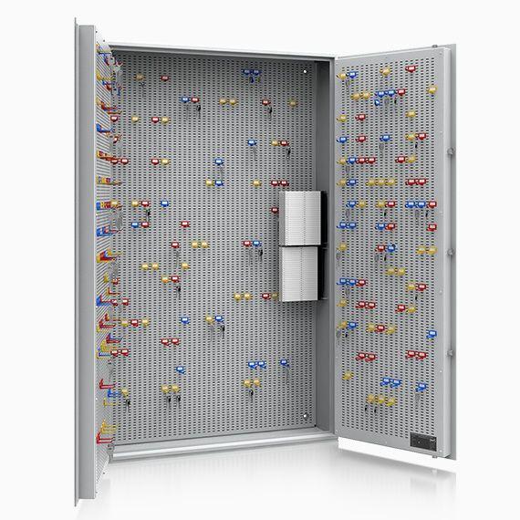 13107 Leipzig 2 flügelige Tür Schlüsseltresor bis 800 Haken Sicherheitsstufe A + S1